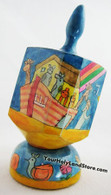 Noah's Ark Hand Painted Dreidel with Stand
