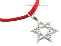925 Silver Red String KABBALAH BRACELET WITH STAR OF DAVID