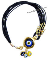 PROTECTION BRACELET + KABBALAH HAND + EVIL EYE PENDANTS