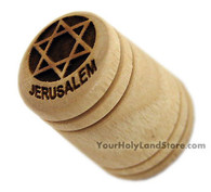 Star of David OLIVE WOOD THIMBLE