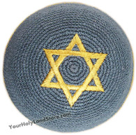 Gold Star of David Kippah