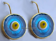 JEWISH EVIL EYE PROTECTION UNIQUE EARRINGS