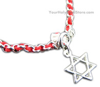 RED STRING KABBALAH BRACELET + STAR OF DAVID