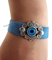 EVIL EYE PROTECTION SUEDE BRACELET