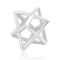 Sterling Silver Kabbalah Merkaba Charm