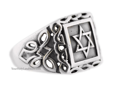 925 Sterling Silver Jewish Star of David Ring