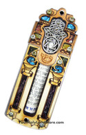 Star of David & Hamesh Hand Mezuzah