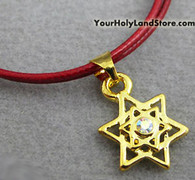 RED STRING KABBALAH BRACELET WITH STAR OF DAVID