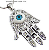 Evil Eye Protection Hand Necklace