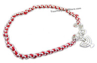 RED STRING KABBALAH BRACELET WITH MENORAH