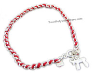 RED STRING KABBALAH BRACELET WITH CHAI PENDANT