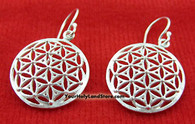 Flower of Life Earrings - Kabbalah Spiritual Tool