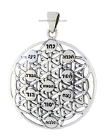 KABBALAH FLOWER OF LIFE & TREE OF LIFE PENDANT
