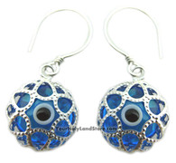 PROTECTION AGAINST EVIL EYE SILVER EARRINGS