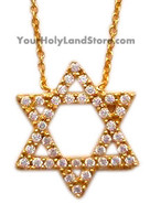 STAR OF DAVID NECKLACE with Cubic Zirconia Stones