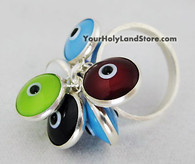 Sterling Silver Evil Eye Protection Ring