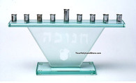 Hanukkah Glass Menorah