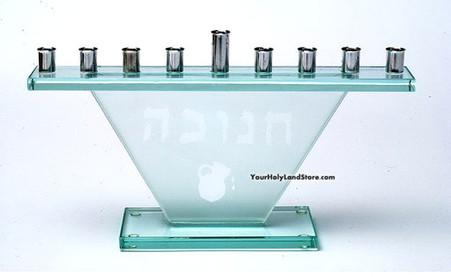 Hanukkah Glass Menorah