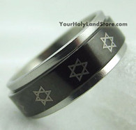 STAR OF DAVID ROTATING RING