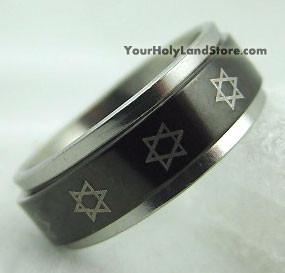 STAR OF DAVID ROTATING RING