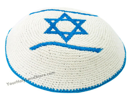 KIPPAH WITH FLAG OF ISRAEL