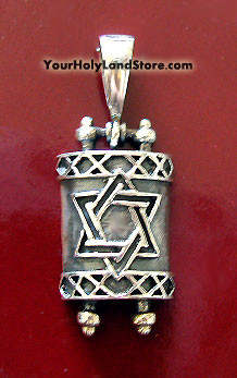 Torah Scroll Pendant