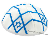 STAR OF MAGEN DAVID WHITE KIPPAH