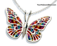 Thousand Flowers Butterfly Necklace by Adina Plastelina