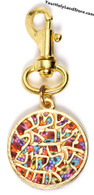 Thousand Flowers Shema Yisrael Key Holder by Adina Plastelina