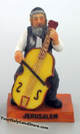 JEWISH FIGURINE WITH CELLO