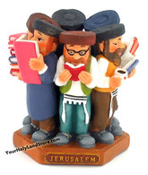 Group Of 6 Jewish Studying Rabbis Figurine
