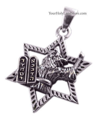 MOSES HOLDING 10 COMMANDMENTS PENDANT