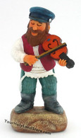 Jewish Fiddler Colorful Figurine