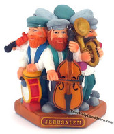 Group of 6 Playing Music Jewish Figurines