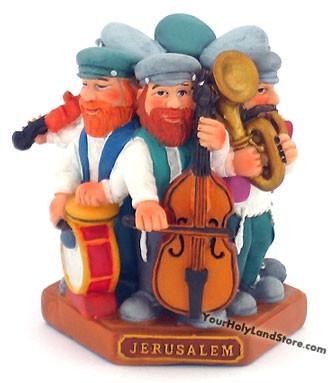 Group of 6 Playing Music Jewish Figurines