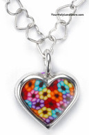 Thousand Flowers Heart Necklace by Adina Plastelina