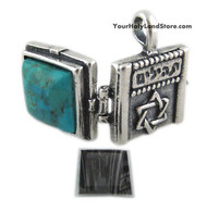 Sterling Silver Pendant with Book of Psalms (Tehillim)