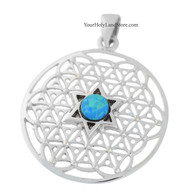 Kabbalah Flower of Life Pendant with Star of David