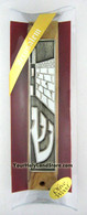 Olive Wood Jerusalem Mezuzah Case with Scroll