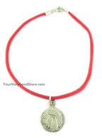 Kabbalah Red String Bracelet with Blessing Pendant