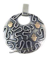 Unique Pendant with 3 Hamsa Protection Hands