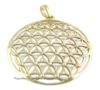 14k Solid Gold Flower Of Life Pendant