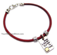 Shema Israel Kabbalah Red String Unique Bracelet