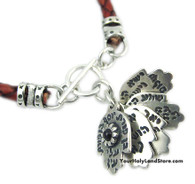 5 Hamsa Hands with Blessings Kabbalah Red Bracelet