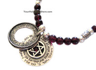 Priestly Blessing Gemstone Necklace with Star of David