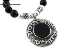 Jerusalem Double Sided Pendant - Onyx Gemstone Necklace