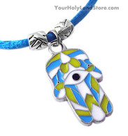 Blue Bracelet with Hamsa