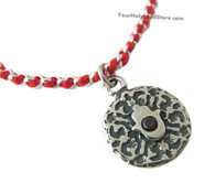 Kabbalah Red String Bracelet with Hamsa and Blessing