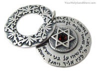 Double Pendant with Three Blessings and Star of David
