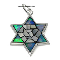 Star of David Mosaic Pendant